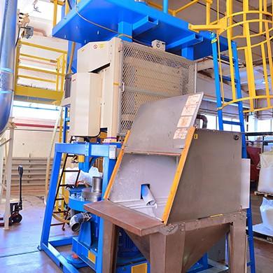 Polyethylene grinding zone