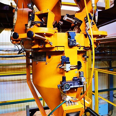 Extrusion line for modified PE production
